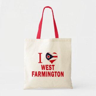 I love West Farmington, Ohio Budget Tote Bag