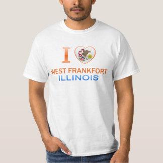 I Love West Frankfort, IL T-shirt
