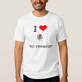 I Love WEST FRANKFORT Illinois T Shirt