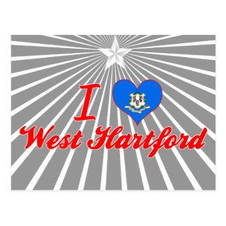 I Love West Hartford, Connecticut Postcard
