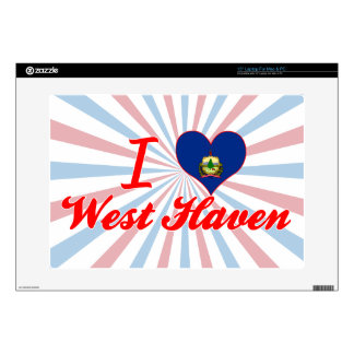 I Love West+Haven Vermont Decals For Laptops