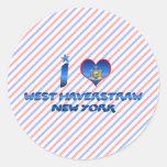 I love West Haverstraw, New York Round Stickers