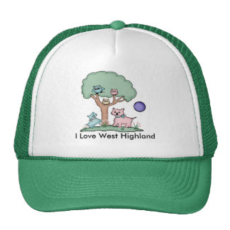 I Love West Highland Trucker Hat