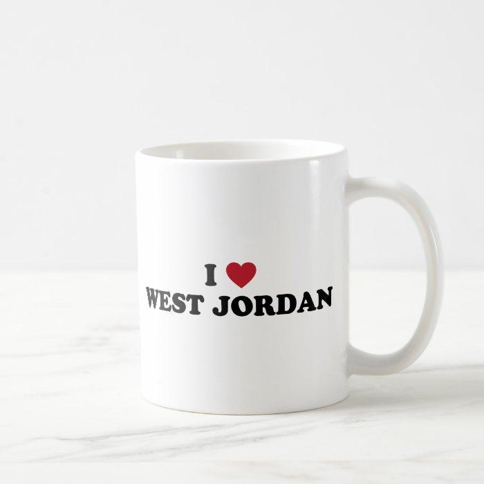 I Love West Jordan Utah Coffee Mug