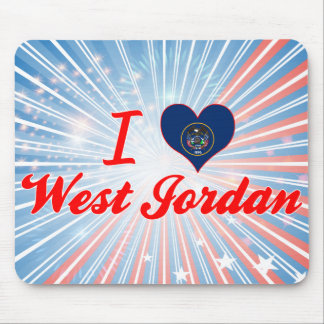 I Love West Jordan, Utah Mouse Pad