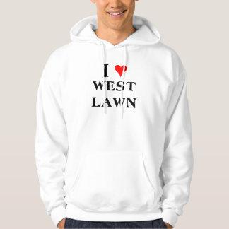 I Love West Lawn Hooded Sweatshirt