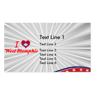 I Love West Memphis, Arkansas Double-Sided Standard Business Cards (Pack Of 100)