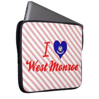 I Love West Monroe, Louisiana Laptop Sleeves