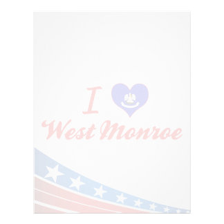 I Love West Monroe, Louisiana Personalized Letterhead