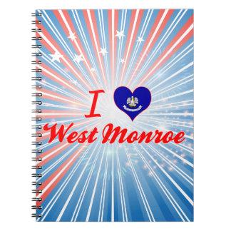 I Love West Monroe, Louisiana Notebook