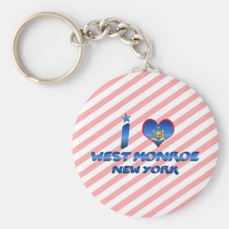 I love West Monroe, New York Key Chain