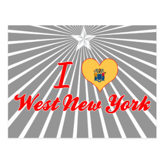 I Love West New York, New Jersey Postcard