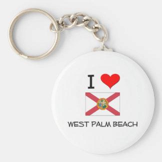 I Love WEST PALM BEACH Florida Keychain