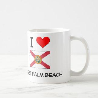 I Love WEST PALM BEACH Florida Mugs
