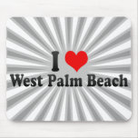 I Love West Palm Beach, United States Mouse Pad