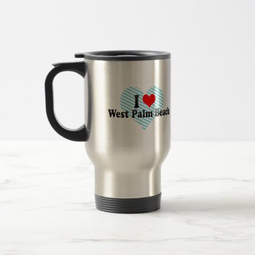 I Love West Palm Beach, United States 15 Oz Stainless Steel Travel Mug