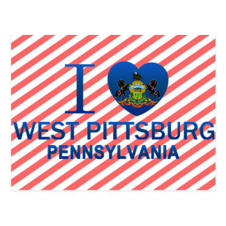 I Love West Pittsburg, PA Post Cards