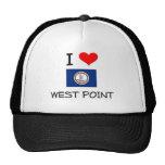 I Love West Point Virginia Mesh Hat