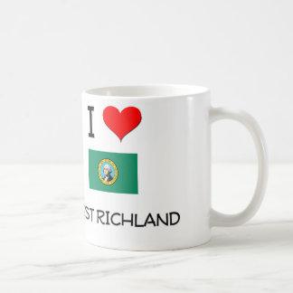 I Love West Richland Washington Classic White Coffee Mug