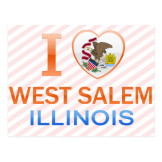 I Love West Salem IL Postcards