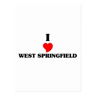 I love West Springfield Postcard