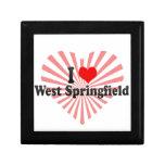 I Love West Springfield, United States Keepsake Boxes