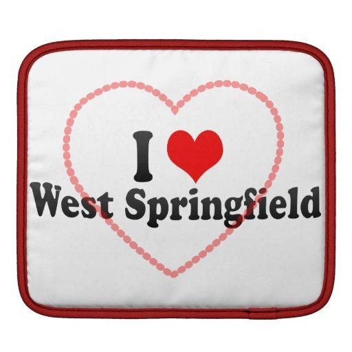 I Love West Springfield, United States iPad Sleeves