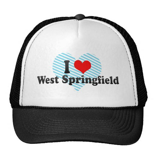 I Love West Springfield, United States Mesh Hats