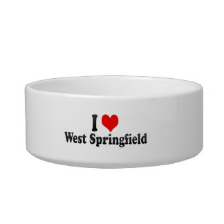 I Love West Springfield United States Cat Food Bowls