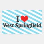 I Love West Springfield, United States Rectangular Stickers