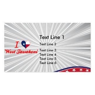 I Love West Tawakoni, Texas Business Card Templates