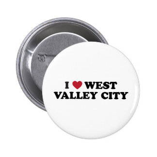 I Love West Valley City Utah Pinback Button