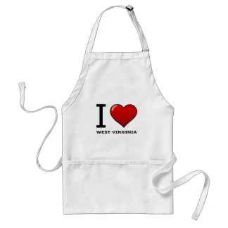 I LOVE WEST VIRGINIA APRONS