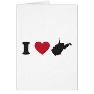 I Love West Virginia Greeting Card