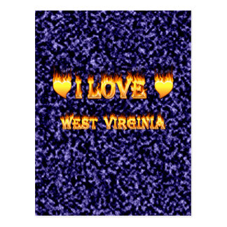 I love west virginia fire and flames postcard