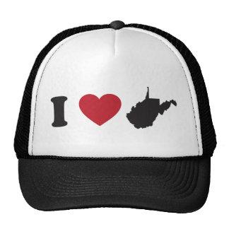 I Love West Virginia Hats