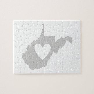 I Love West Virginia Jigsaw Puzzles