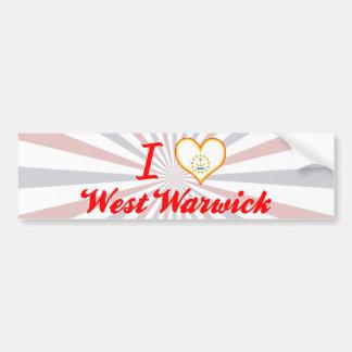 I Love West Warwick, Rhode Island Bumper Sticker