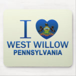 I Love West Willow, PA Mouse Pad