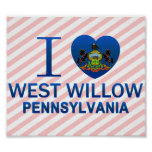 I Love West Willow, PA Print