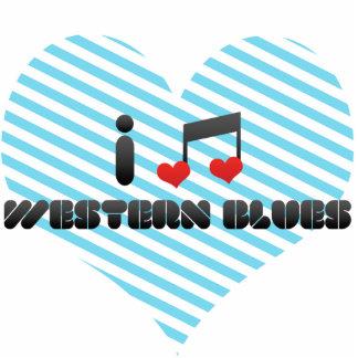 I Love Western Blues Photo Cutout