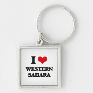 I Love Western Sahara Keychains