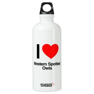i love western spotted owls SIGG traveler 0.6L water bottle
