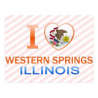I Love Western Springs, IL Postcard
