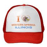 I Love Western Springs, IL Trucker Hats