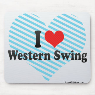 I Love Western Swing Mouse Pad