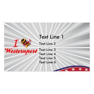 I Love Westernport, Maryland Double-Sided Standard Business Cards (Pack Of 100)