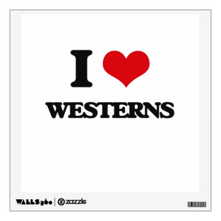 I love Westerns Wall Graphic