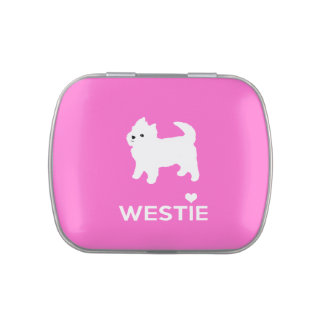 I Love Westie Dogs - West Highland White Terrier Jelly Belly Candy Tin