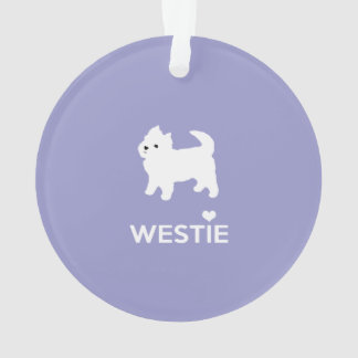 I Love Westie Dogs - West Highland White Terrier Ornament
